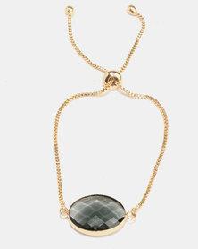 Lily & Rose Green Stone Bracelet Gold-Tone