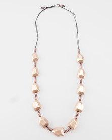 Lily & Rose Rose Gold Bead Necklace Rose Gold/Black