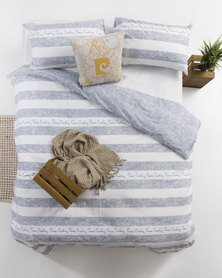 Pierre Cardin Stripe Duvet Cover Blue
