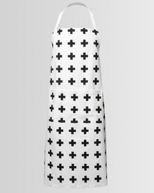 Casa Culture Swiss Cross Apron White