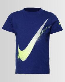 Nike NKB Swoosh Spray SS Tee Blue