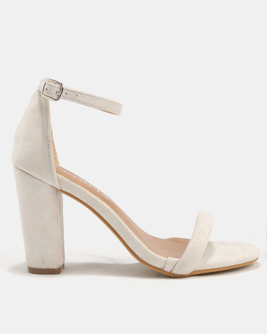 Utopia Sexy Barely There Heels Silver