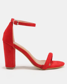 Utopia Sexy Barely There Heels Red