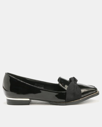 Utopia Utopia Ribbon Moccasin Black hot sale cheap price wJIch