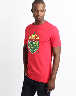12b068d45bf9 Samson Eagle Short Sleeve Logo T-Shirt Red