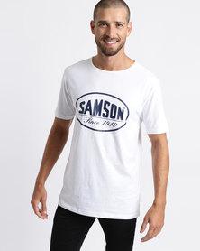 Samson Oval Logo T-Shirt White