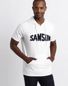 Samson Hooded T-Shirt White