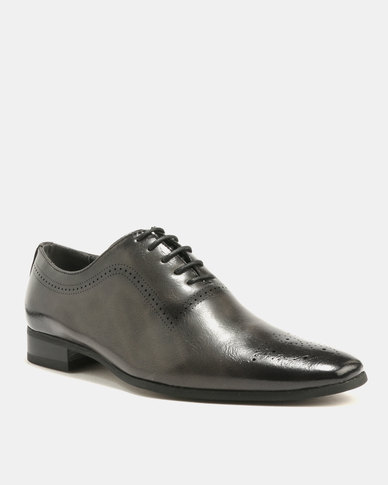 Gino Paoli Gino Paoli Formal Perforated Lace Ups Grey tumblr sale online sTtmgLhdFg