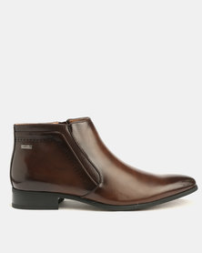 Gino Paoli Formal Laser Boots Brown
