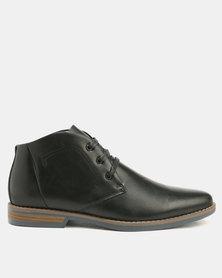 Gino Paoli Stitch Lace Up Boots Black