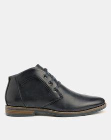 Gino Paoli Stitch Lace Up Boots Navy