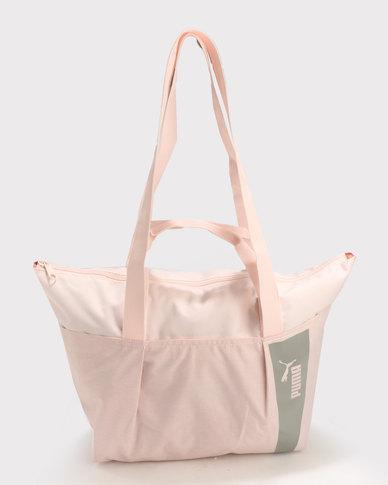 Puma Core Style Large Shopper Pink  24f1d5d39ff3a