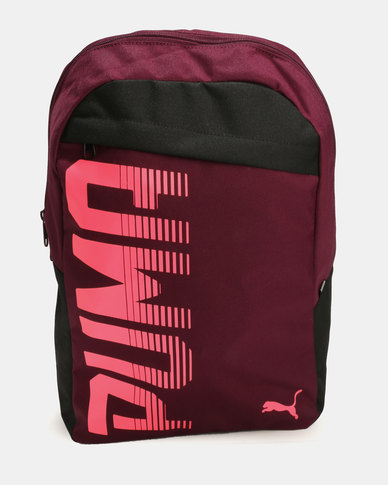 puma branded backpack laptop bags college bags pioneer black quality ... f8caa06591515