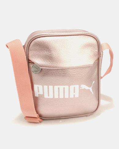 2b93f1ef83 Puma Campus Portable PU Bag Pink