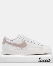 Nike Women's Blazer Low LE Basketball Shoe Particle Rose & White