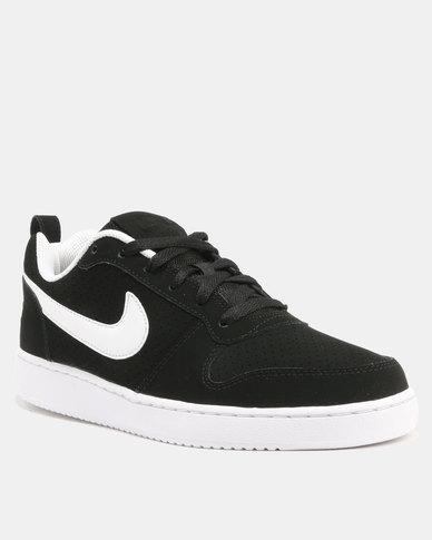 Nike Men s Court Borough Low Shoes Black   White  5fad1fac6