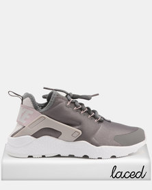 Nike Air Huarache Run Ultra Sneakers Gunsmoke & White