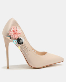 Footwork Sky Embellished Court Beige