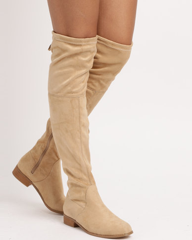 Footwork Footwork Odi Over The Knee Boots Beige sale pre order cheap sale limited edition lSlCKMFuSK