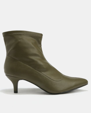 Footwork Alix Kitten Boots Khaki