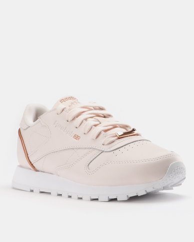 ed938ba7b6cfd4 Reebok Classic Leather HW Sneaker Pale Pink White Rose Gold