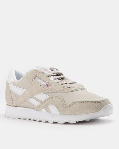 7cb35d66fdf Reebok Classic Nylon Sneakers Neutrals Sandstone White