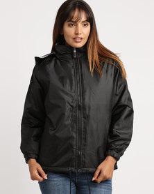 Utopia Unisex Reversible Rain Jacket Black