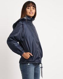 Utopia Unisex Reversible Rain Jacket Navy