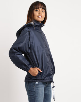 Utopia Unisex Reversible Rain Jacket Navy