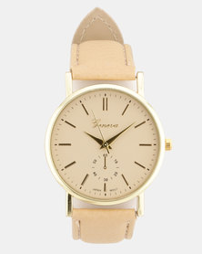 You & I Plan Extra Dial Watch Beige