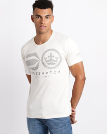 Crosshatch Fantal Symbol T-Shirt Vaporous Grey