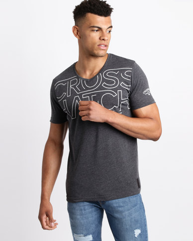 Crosshatch Mandle T-Shirt Charcoal