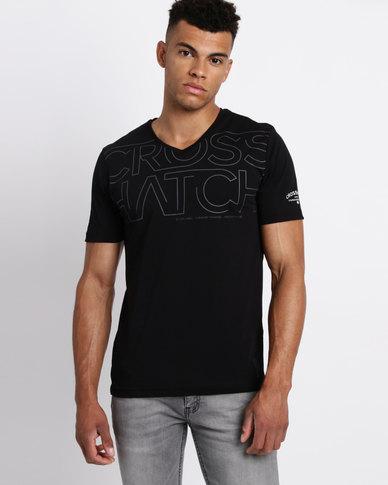 Crosshatch Mandle T-shirt Black