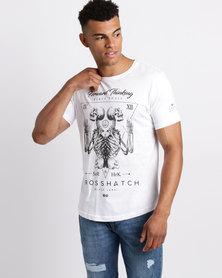 Crosshatch Bonestee Arched Hem T-Shirt Black