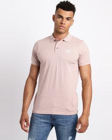 Crosshatch Bingara Raised Embroidery Polo Shirt Rose Pink