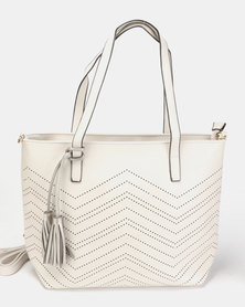 Utopia Lasercut Shopper Beige