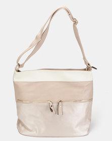 Utopia 3 Tone Handbag Light Pink Champagne