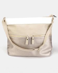 Utopia 3 Tone Handbag Taupe Pewter