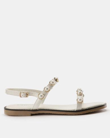 58e68abf8 Utopia Pearl Flat Sandal White | Zando