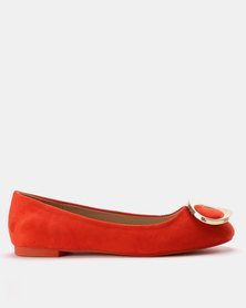 Utopia Gold Trim Pump Orange