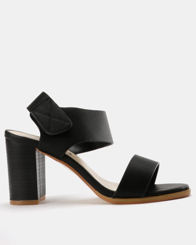 free shipping very cheap best store to get cheap price Utopia Utopia Block Heel Sandals Black how much sale online classic sale online 9B6aq95g