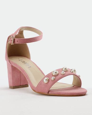 0fadd9920d5 Utopia Pearl Block Heel Sandal Light Pink