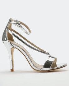 Utopia Stiletto Heel Sandal Silver
