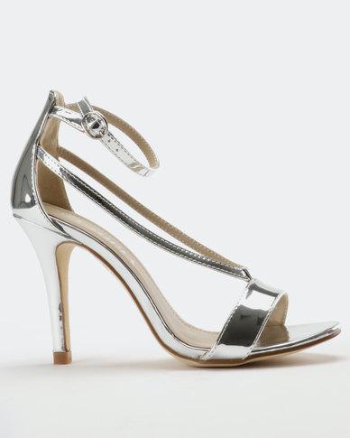8f50035a1cb Utopia Stiletto Heel Sandal Silver