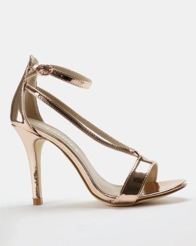 Utopia Stiletto Heel Sandal Rose Gold