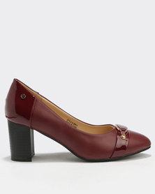 Franco Gemelli Nuria Court Shoes Burgundy