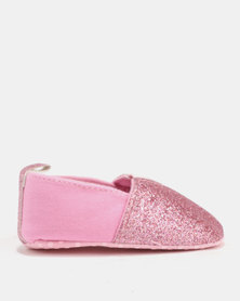 Bugsy Boo Baby Glittery Shoes Pink