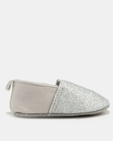 Bugsy Boo Baby Glittery Shoes Silver
