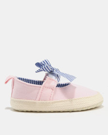 Bugsy Boo Baby Bow Shoes Pink/Blue