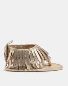 Bugsy Boo Baby Tassel Sandals Gold